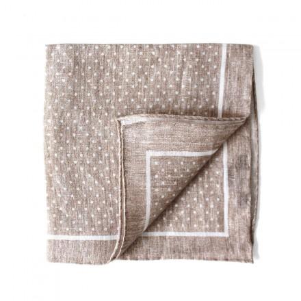 Pocket Square beige linen