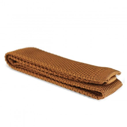Cotton Knitted Tie gold