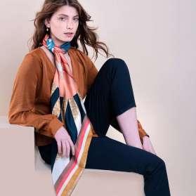 Coton Silk Scarf - Taking the Plunge 100x100cm