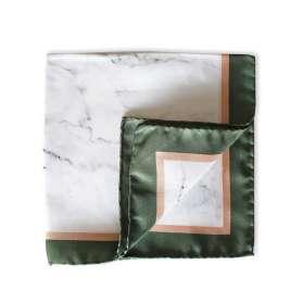 Pochette Costume - White Marble