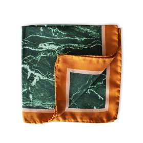 Pocket Square - Green Marble