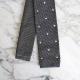 Cravate Tricot gris pois blanc
