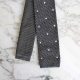 knit tie grey white polka dots