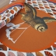 Silk Scarf - This is my Owl 100x100cm