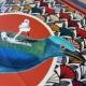 Silk Scarf - This is my Blue Jay 100x100cm