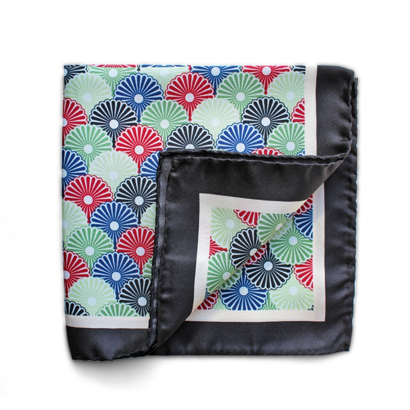 Pocket Square silk Lotus