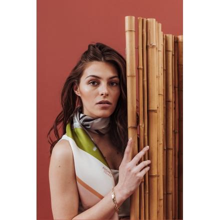 Foulard en Soie - Backgammon 100x100 cm