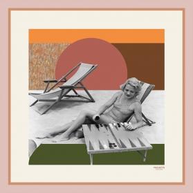 Foulard en Soie - Backgammon 100x100cm