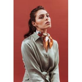 Silk Scarf - Chlore 50x50cm