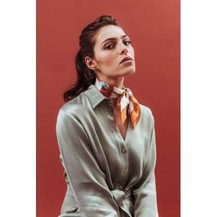 Silk Scarf - Chlore 50x50 cm