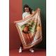 Silk Scarf - Agrumes 100x100cm