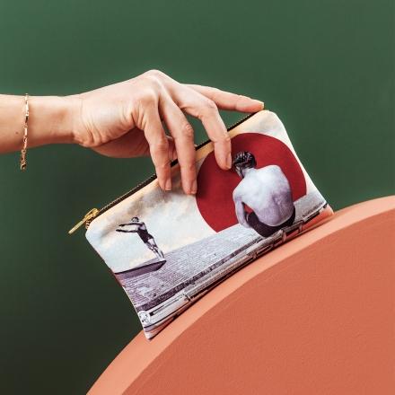 Pochette Zippée en Velours - Chlore