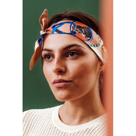Foulard Bandeau Soie - Jungle