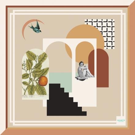 Foulard en Soie - Arcades 100x100 cm