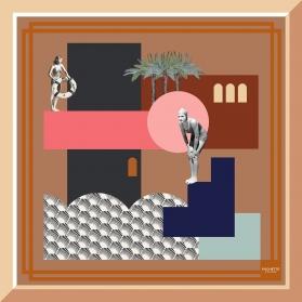 Foulard en Soie - Plongeoir 100x100cm