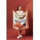 Silk Scarf - Sables 100x100cm