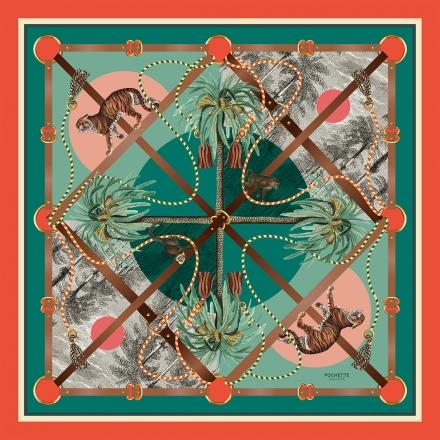 Silk Scarf - Palmeraie 100x100cm