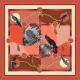 Foulard en Soie - Cacaotes 100x100 cm