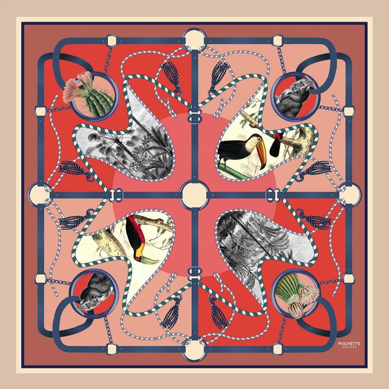 Silk Scarf - Jungle 50x50 cm