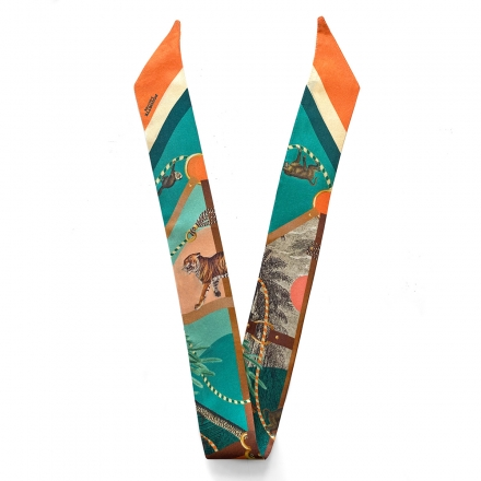 Silk Headband - Palmeraie