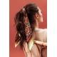 Silk Scarf - Dattiers des Canaries - Brown 70x70 cm