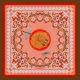 Foulard en Soie - Libellules - Rose 70x70 cm