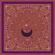 Cotton Veil Scarf - Constellations - Terracotta 70x70cm