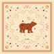 Cotton Veil Scarf - Grande Ours - Ecru 70x70cm