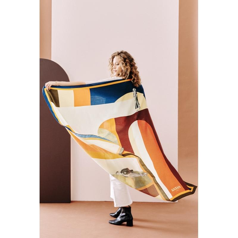 Cotton Veil Scarf - Les Égarés 70x70cm
