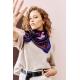 Cotton Veil Scarf - Constellations - Violet 70x70cm