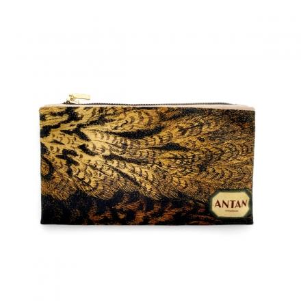 Pochette Zippée en Velours - La chevêche d'Athéna Little