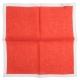 Pochette Costume Rouge Lin Liseré Blanc