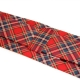 Cravate Coton Rouge Tartan Made in France.