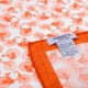 Pochette Costume Coton Blanc Orange