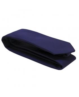 Cravate Coton Bleu Marine Made in France.