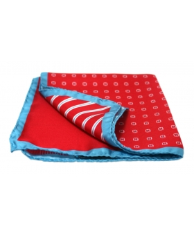 4 in 1 Red Silk Pocket Square