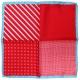 Pochette Costume Soie Rouge 4 en 1