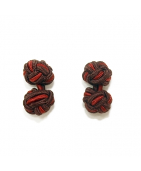 Orange & Brown Silk Knots Cufflinks