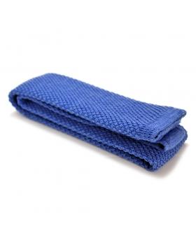 Cravate tricot laine bleu ciel