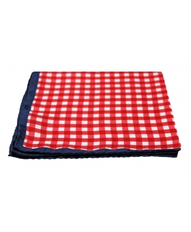 Red Checks Silk Pocket Square