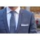 cravate navy surpiqures blanches