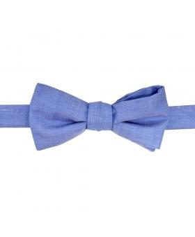 Noeud papillon coton bleu chambray made in France.