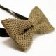 Noeud Papillon Tricot Coton Beige Uni
