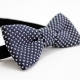 Navy Blue Knitted Cotton Bow Tie