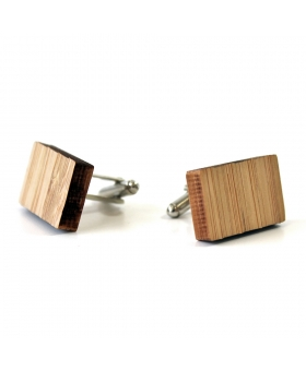 Boutons de manchettes - Bois - Rectangle