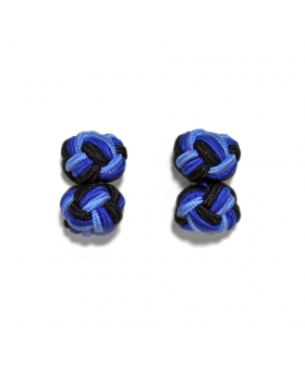 Silk Knots Cufflinks - Blue 2