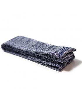 Cravate Tricot Soie Bleu chiné