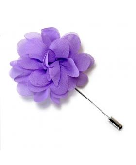 Boutonniere Violette Mousseline de Soie