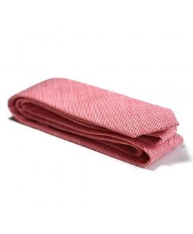 Cravate Coton Rouge