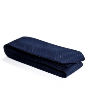 Handmade Blue Cotton Tie with White Dots